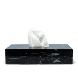 Tissue box - black marble