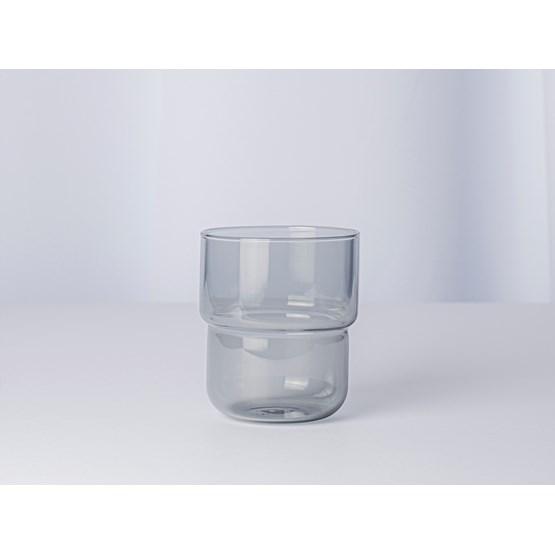 Verres Lot de 4 pièces 250 ml STACK - gris fumé - Design : Maarten Baptist