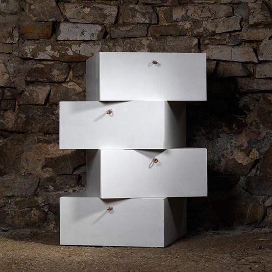 LIBERTA Chest of Drawers - White - Design : NATURE & DESIGN