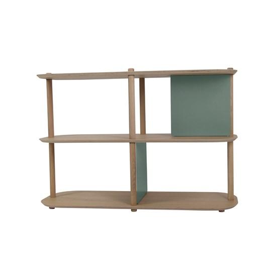 Grande étagère 3 niveaux by Théodore - Vert de gris - Design : Dizy