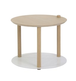 Petite table ronde by Constance - Blanc