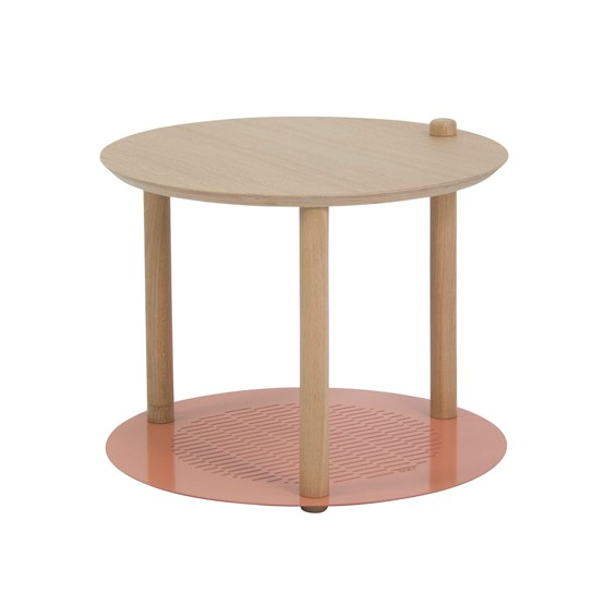 Petite table ronde by Constance - Powder pink - Design : Dizy
