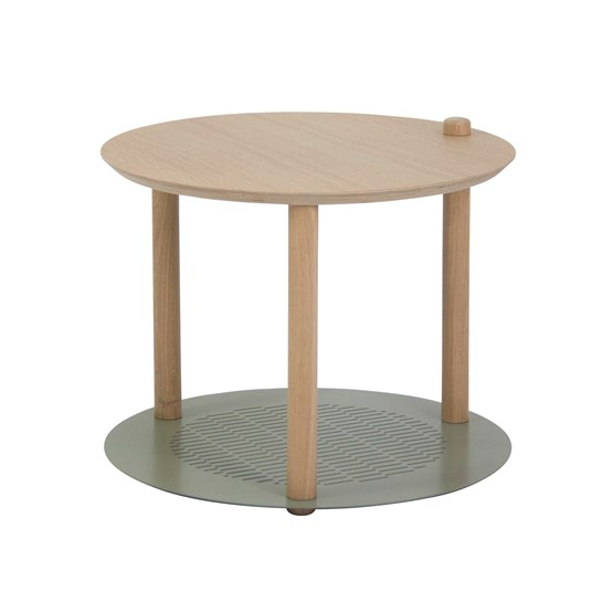 Petite table ronde by Constance - Grey green - Design : Dizy