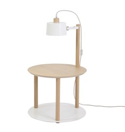 Petite table ronde & lampe by charlotte - Blanc