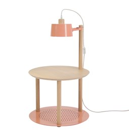 Petite table ronde & lampe by charlotte - Powder pink