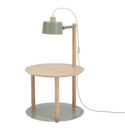 Petite table ronde & lampe by charlotte - Grey green