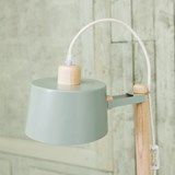 Petite table ronde & lampe by charlotte - Grey green 4