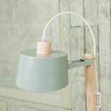 Petite table ronde & lampe by charlotte - Vert de gris 4