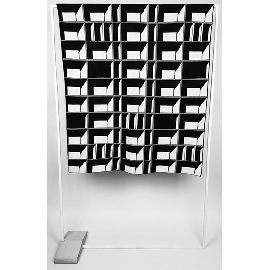 CONCRETE LANDSCAPE - Block Window Blanket #7 - Design : KVP - Textile Design