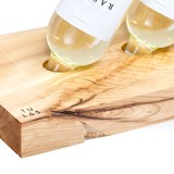 Wine Glass and Bottle Rack - Ash Wood 3