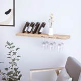 Wine Glass and Bottle Rack - Ash Wood 4