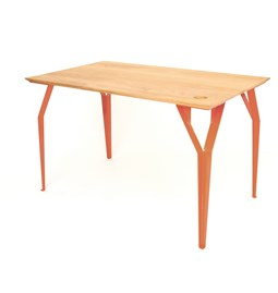 Desk RICHARD Br. - Coral red