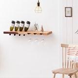 MODEL B wine and glass rack - one piece oak wood 4