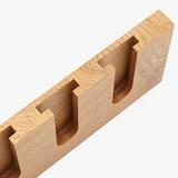 MODEL B wine and glass rack - one piece oak wood 5