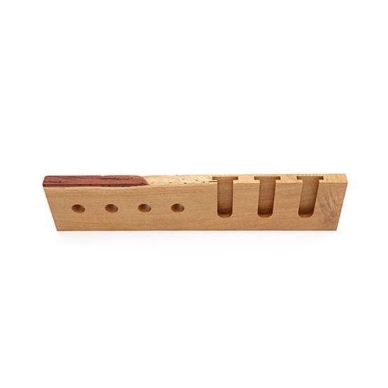 MODEL B wine and glass rack - one piece oak wood - Design : TU LAS