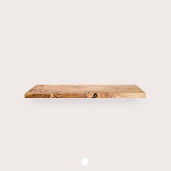 MODEL B0 floating shelf - one piece oak wood - Design : TU LAS