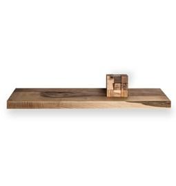 MODEL B0 floating shelf - one piece walnut wood