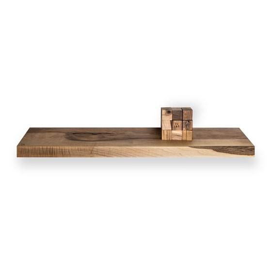 MODEL B0 floating shelf - one piece walnut wood - Design : TU LAS