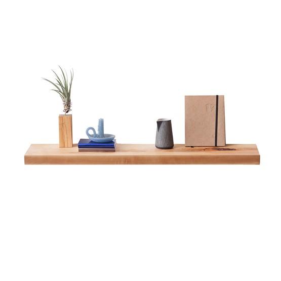 MODEL B0 floating shelf - one piece pear wood - Design : TU LAS