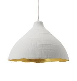 Pendant light GRANDE JEANNE - white & gold