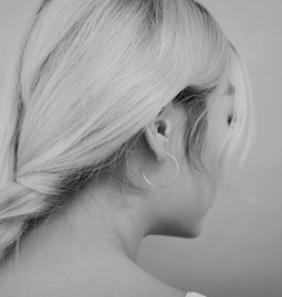 Boucles d'oreilles Hoops - argent