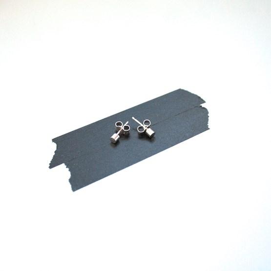 Boucles d'oreilles Cylindrique - argent - Design : ikonniko