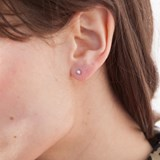Cylindrical silver earrings 4