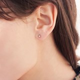 Boucles d'oreilles Cylindrique  - plaqué or 2