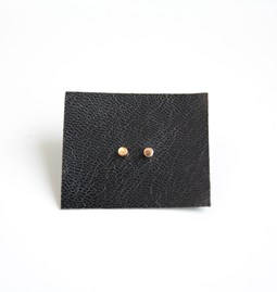 Cylindrical gold-plated earrings