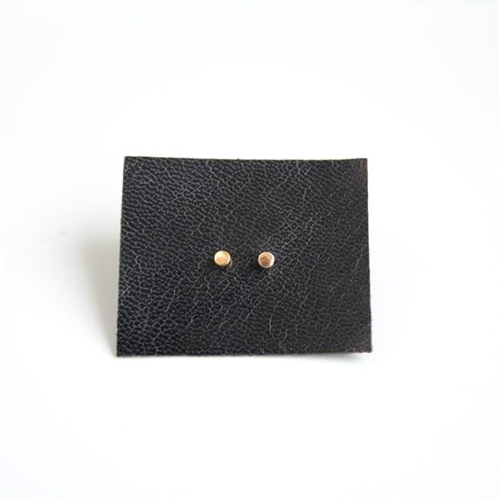 Boucles d'oreilles Cylindrique  - plaqué or - Design : ikonniko
