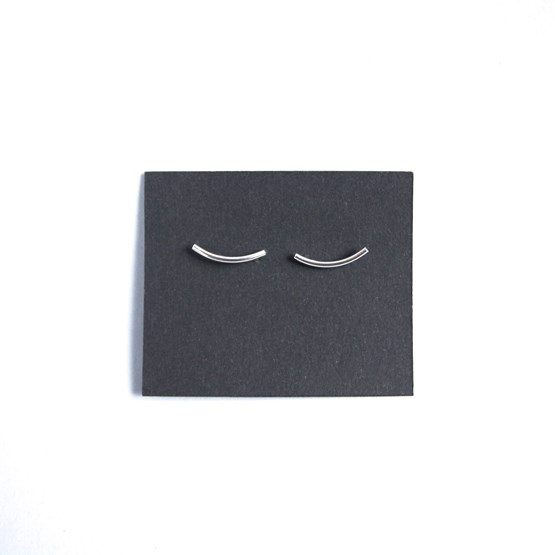 Boucles d'oreilles Curve - argent - Design : ikonniko
