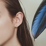Curve silver earrings 3