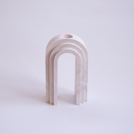 Vase / propagateur en marbre Scala - marbre blanc - Design : Extra&ordinary Design