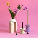 Vase / propagateur en marbre Scala - abricot 5