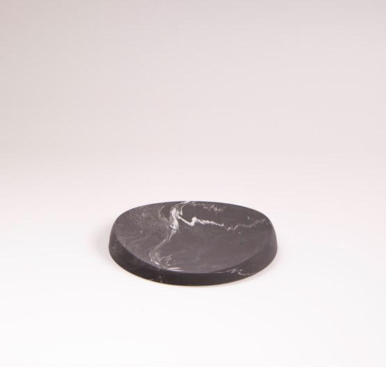 Oval tray in marble finish - Dark grey marble - Design : Extra&ordinary Design