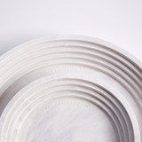 Marble finish round tray set Scala - White marble 3