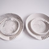 Marble finish round tray set Scala - Brick 2
