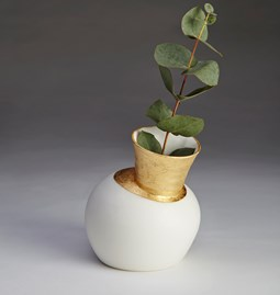 Speak Vase - White with External Gild