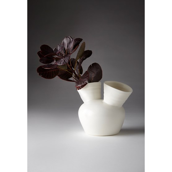 Vase Speak Two - Blanc - Design : Jo Davies
