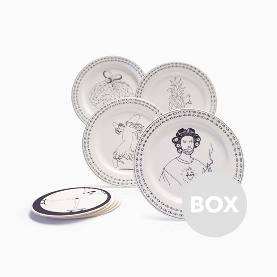 Assiettes FRISBEE - Box 45 - Design : Mrzyk & Moriceau