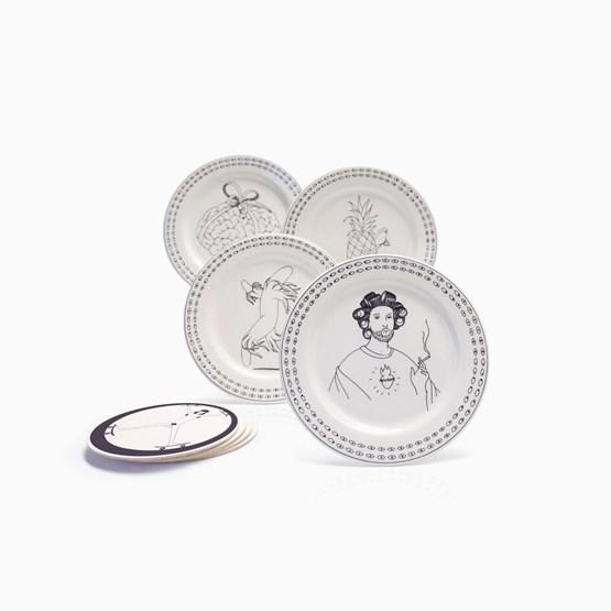 Assiettes FRISBEE - Designerbox X Gien - Design : Mrzyk & Moriceau