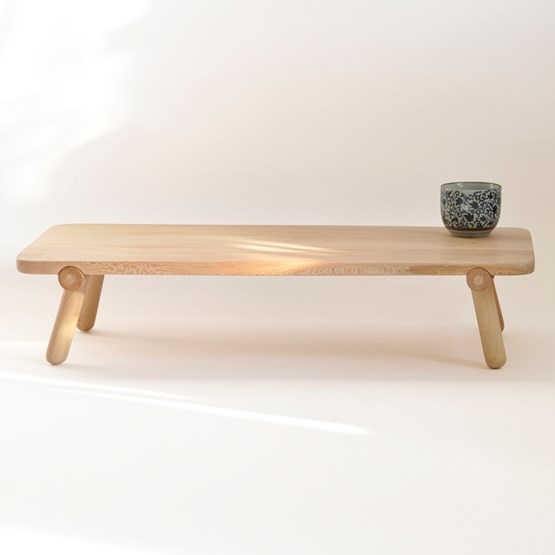 Folding coffee table Utility - London plane - Design : Beuzeval Furniture