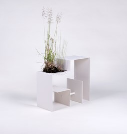 Table d'appoint BERRIE - Blanc