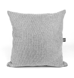 Quilted Wool Light Grey Cushion
