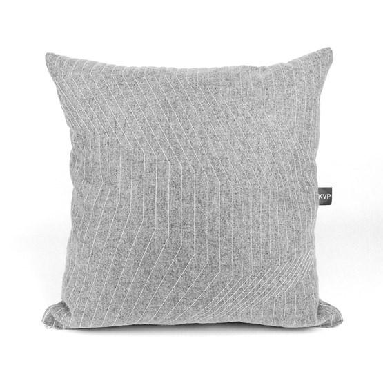 Quilted Wool Light Grey Cushion - Design : KVP - Textile Design