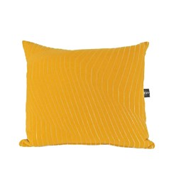 Quilted Cotton Yellow Cushion