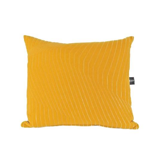 Quilted Cotton Yellow Cushion - Design : KVP - Textile Design