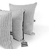Quilted Wool Light Grey 65 Cushion 3