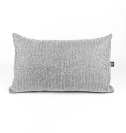 Quilted Wool Light Grey 65 Cushion