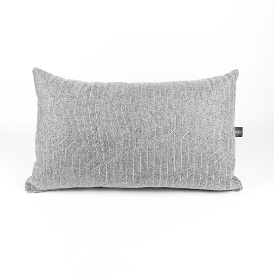 Quilted Wool Light Grey 65 Cushion - Design : KVP - Textile Design
